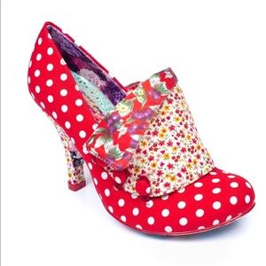 IRREGULAR CHOICE Flick Flack Polka Dot Heel 40